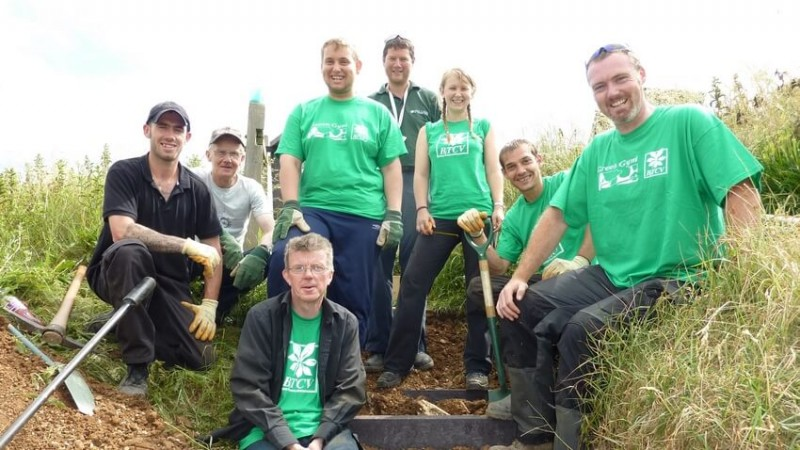 BTCV Recycled Plastic Lumber Steps Case Study Completed Team