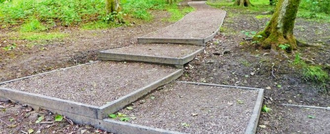 Recycled Plastic Lumber Steps Damp Woodland