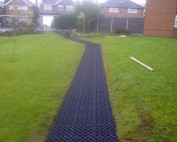 A path made of Hebden X-Grid, ready to be filled with soil or gravel.