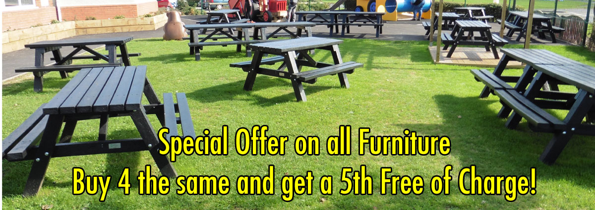 Saving you money, we will give you a fifth item of furniture for every four the same that you buy