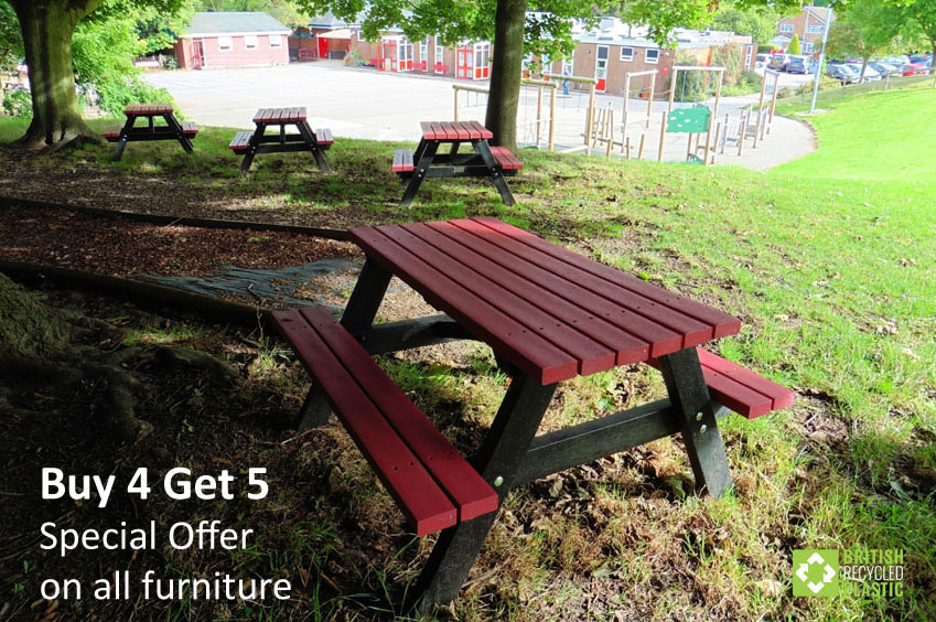 Buy 4 Get 5 with our special offer on all recycled plastic furniture