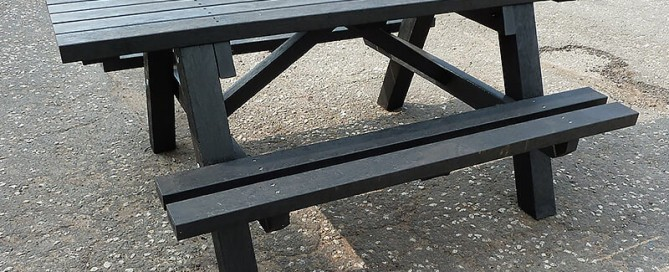 Rastrick Wheelchair Accessible Picnic Table Black Top