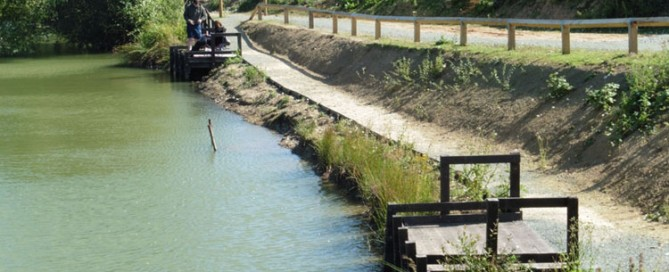 Hodnet Angling Club's recycled plastic fishing platforms