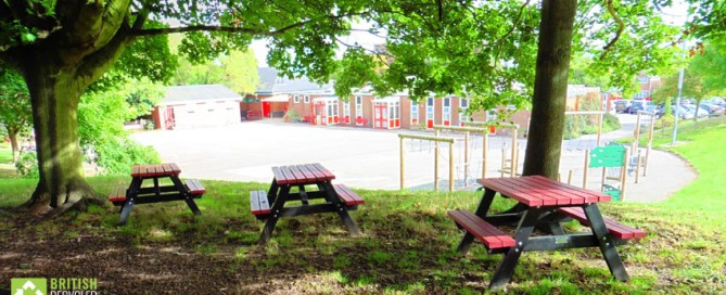 Holmfirth Junior Picnic Tables with Coloured Tops and Seats