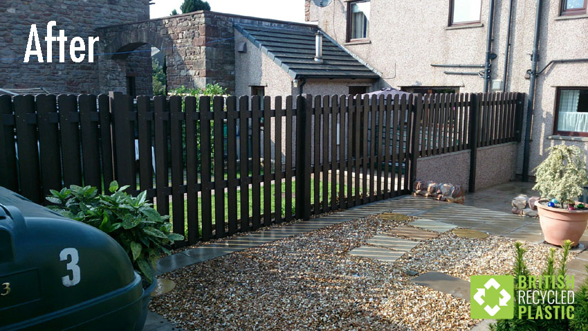 After installing recycled plastic fencing