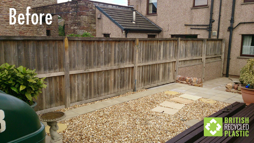Before installing recycled plastic fencing