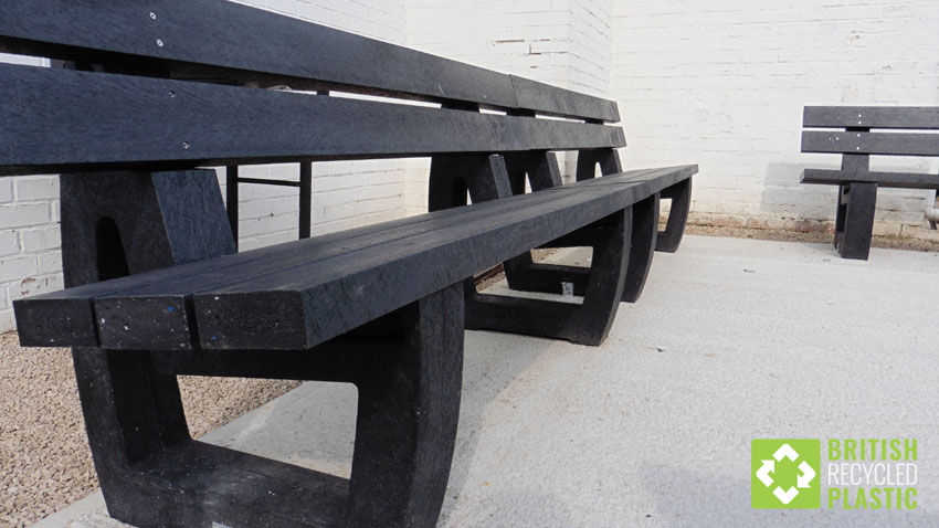 recycled plastic harewood bench cricket club
