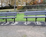 The new recycled plastic benches bought by the Friends of Longsight Park