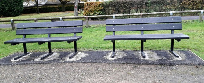 Before and After - Heptonstall Park Benches