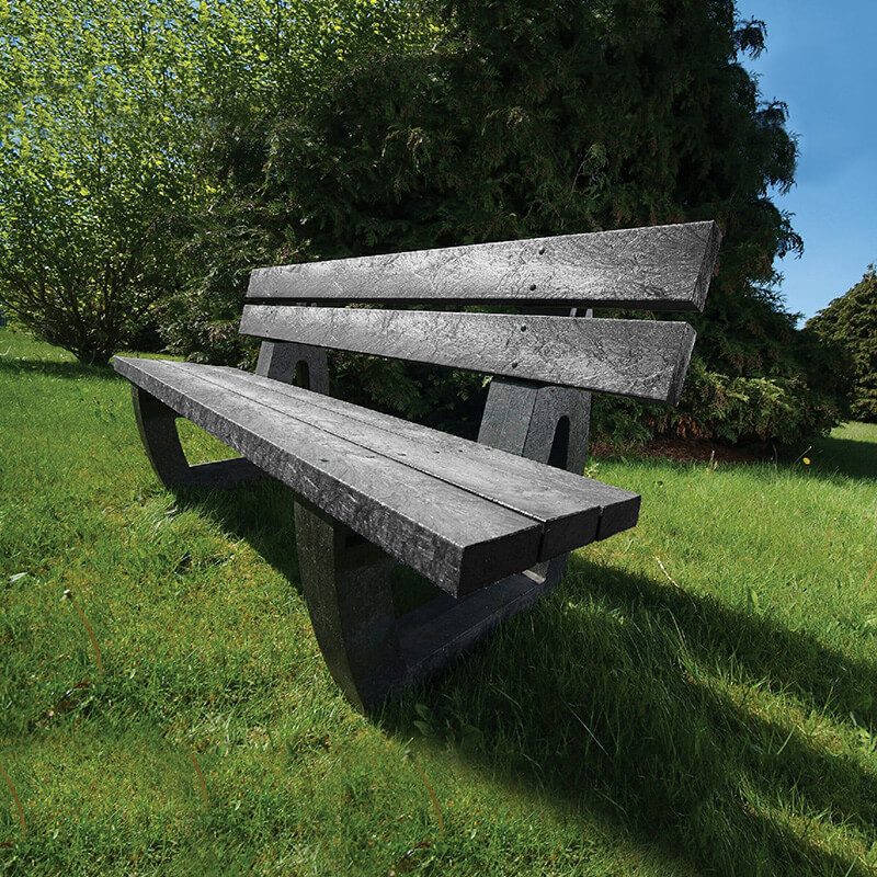 Harewood recycled plastic bench