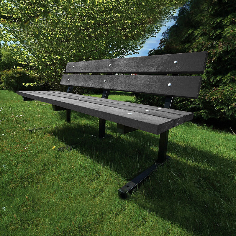 Heptonstall metal framed recycled plastic bench