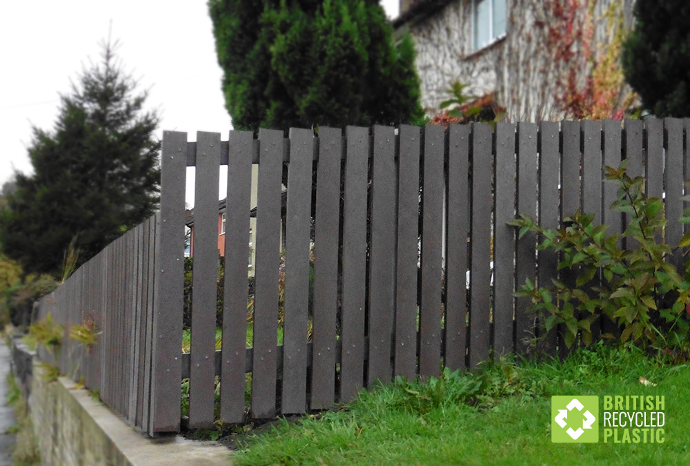 Maintenance free recycled plastic fencing used for social housing