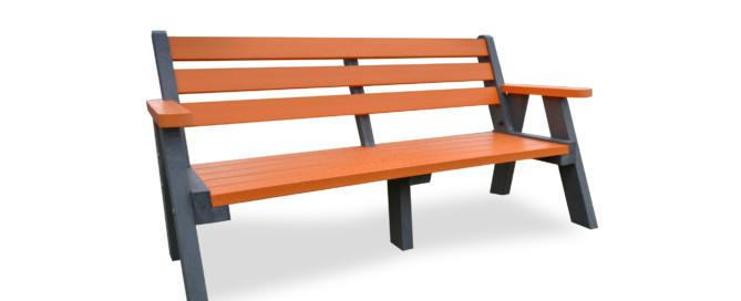 Ilkley Bench with orange slats