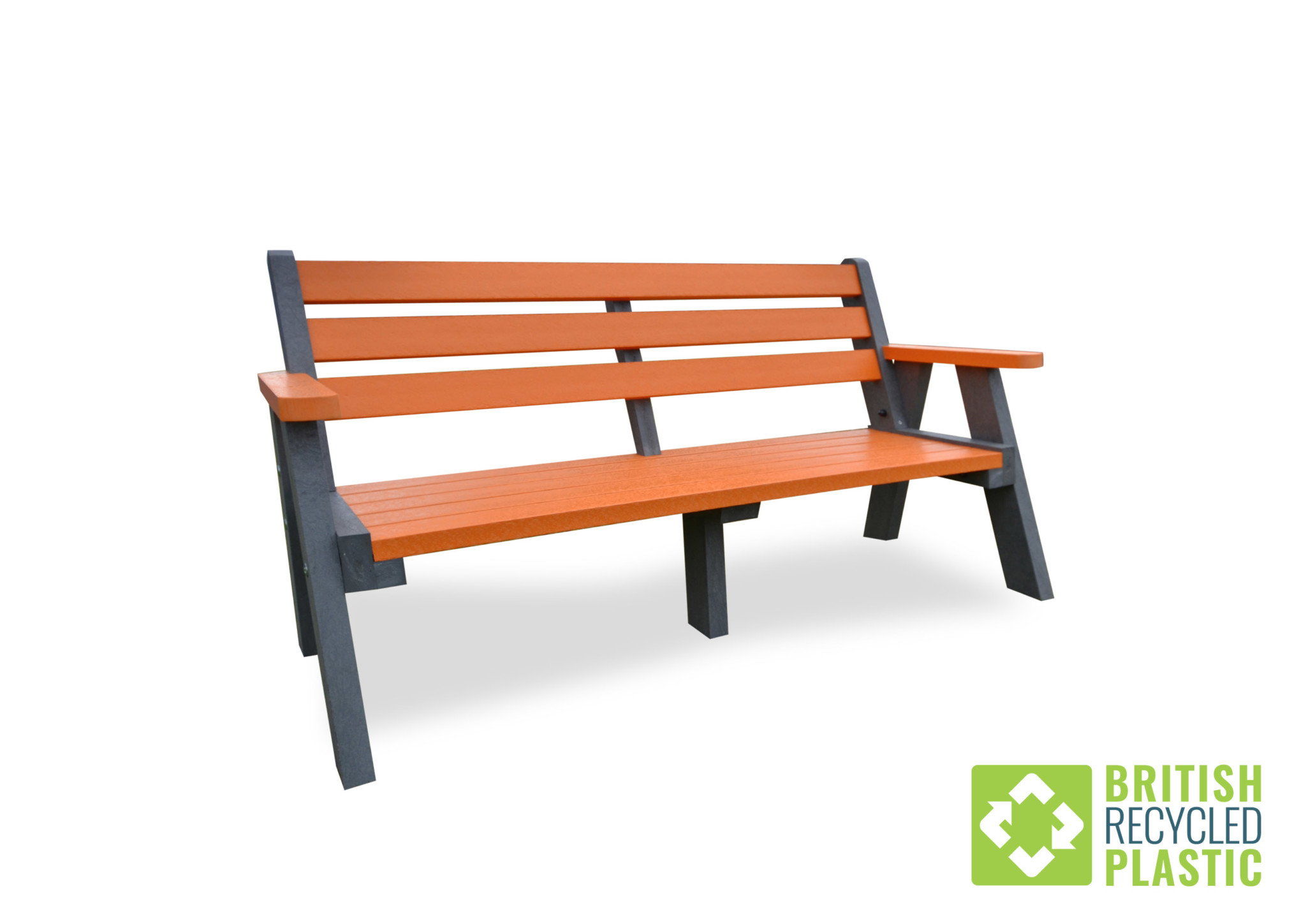 Ilkley Bench with orange slats