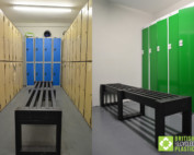 Skipton Recycled Plastic Benches for Changing Rooms