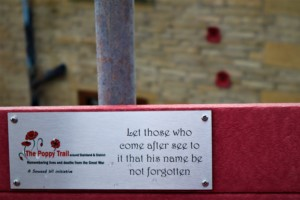 Bench Plaque and Poppies