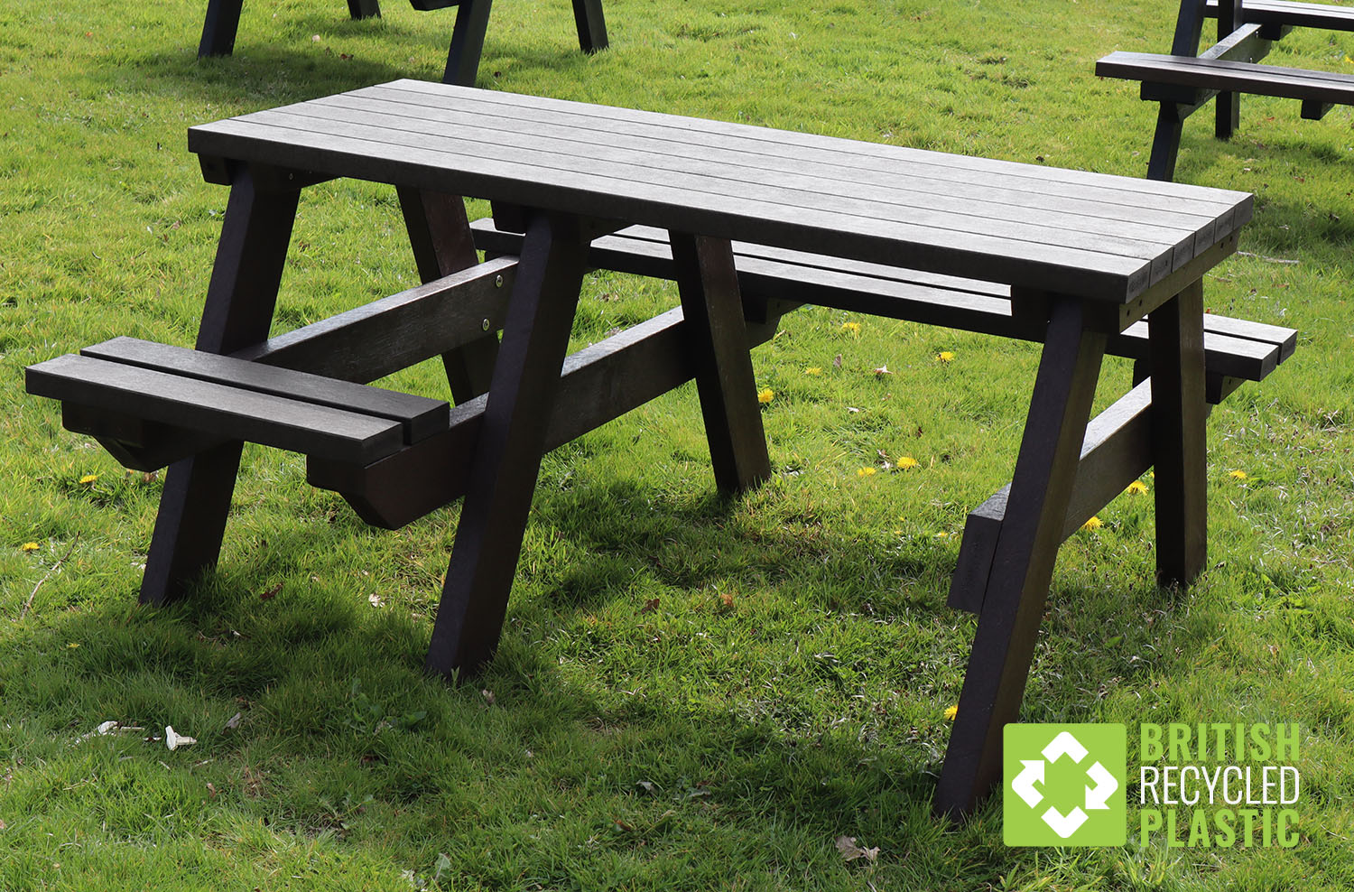 Recycled Plastic Picnic Tables with Wheelchair Access