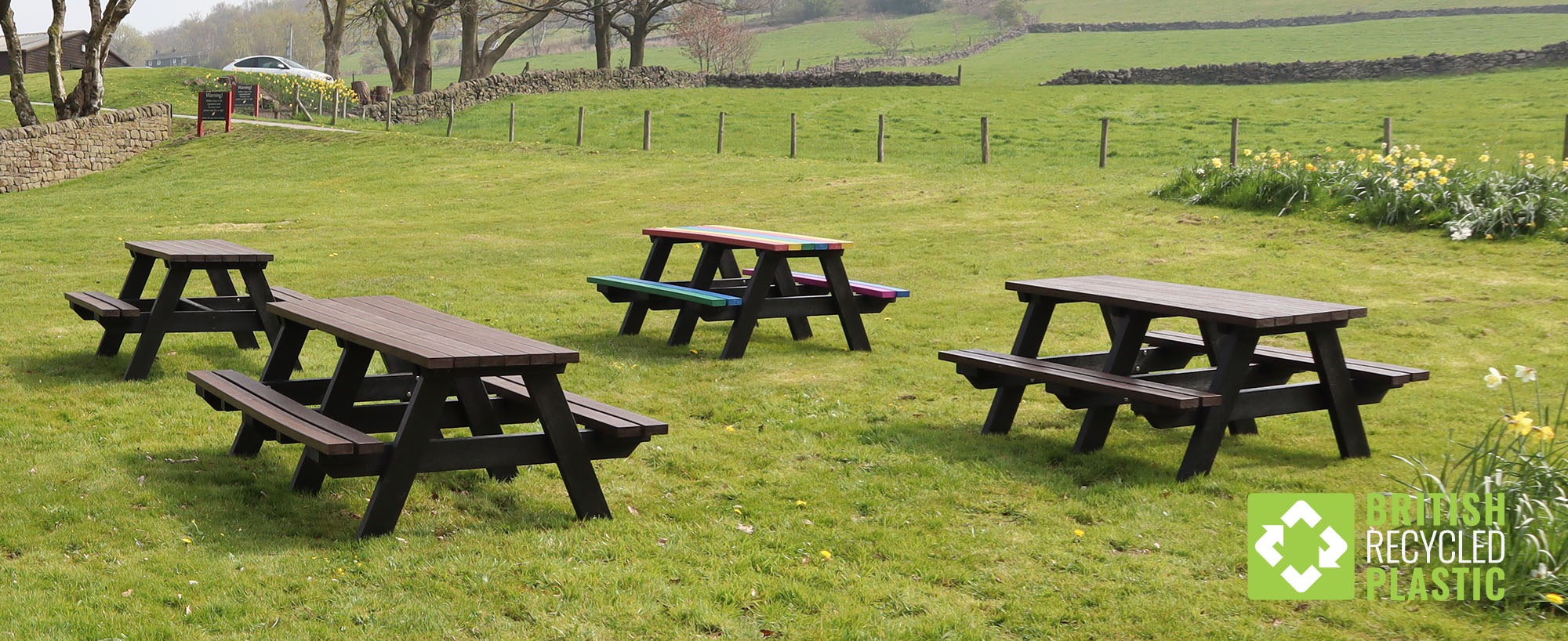 All British Recycled Plastic picnic tables are guaranteed for 25 years