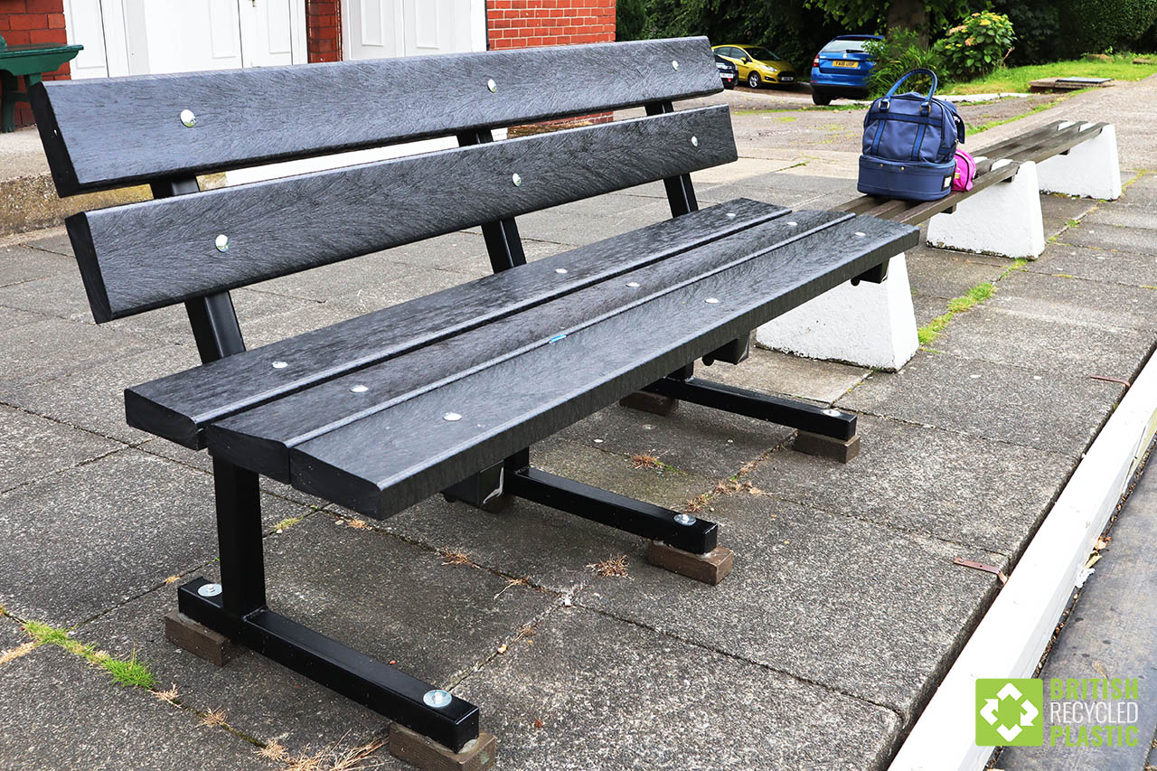 Recycled plastic bench at Spen Victoria Bowling Club