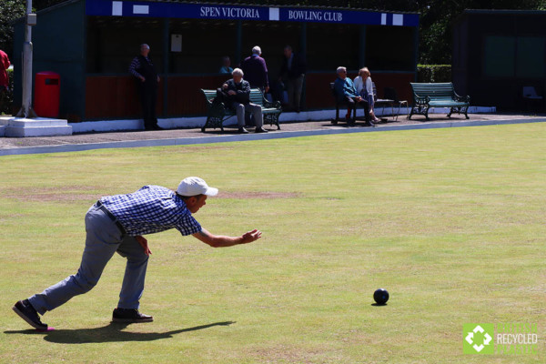 Man bowling at Spen Victoria green