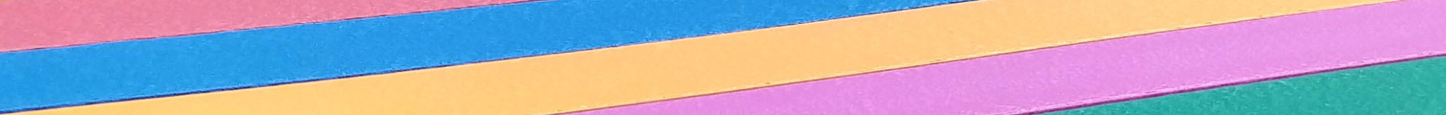 coloured plastic close up