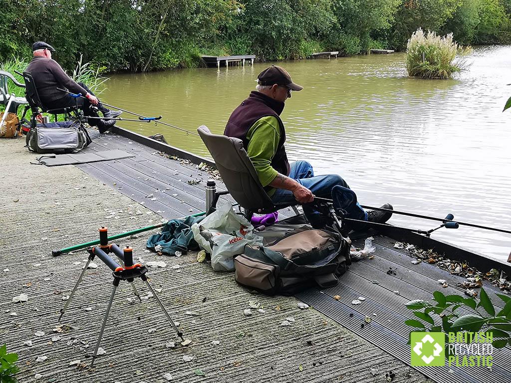 New recycled plastic fishing platform