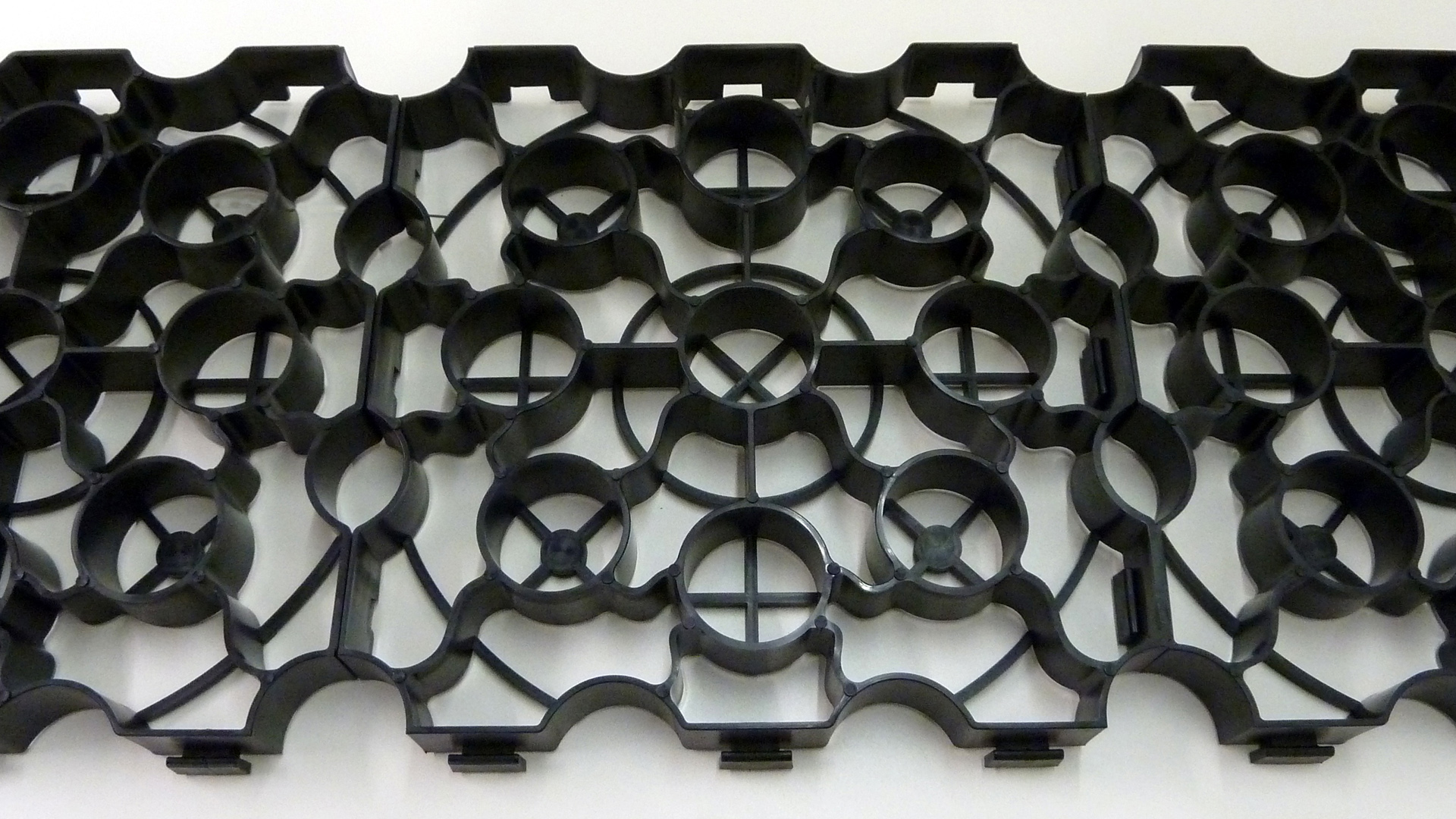 Hebden X-grids, ground reinforcement grids made from British recycled plastic.