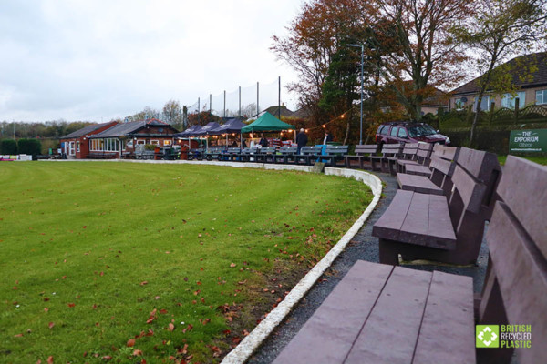 Clitheroe Cricket Club's majestic arc of recycled plastic benches