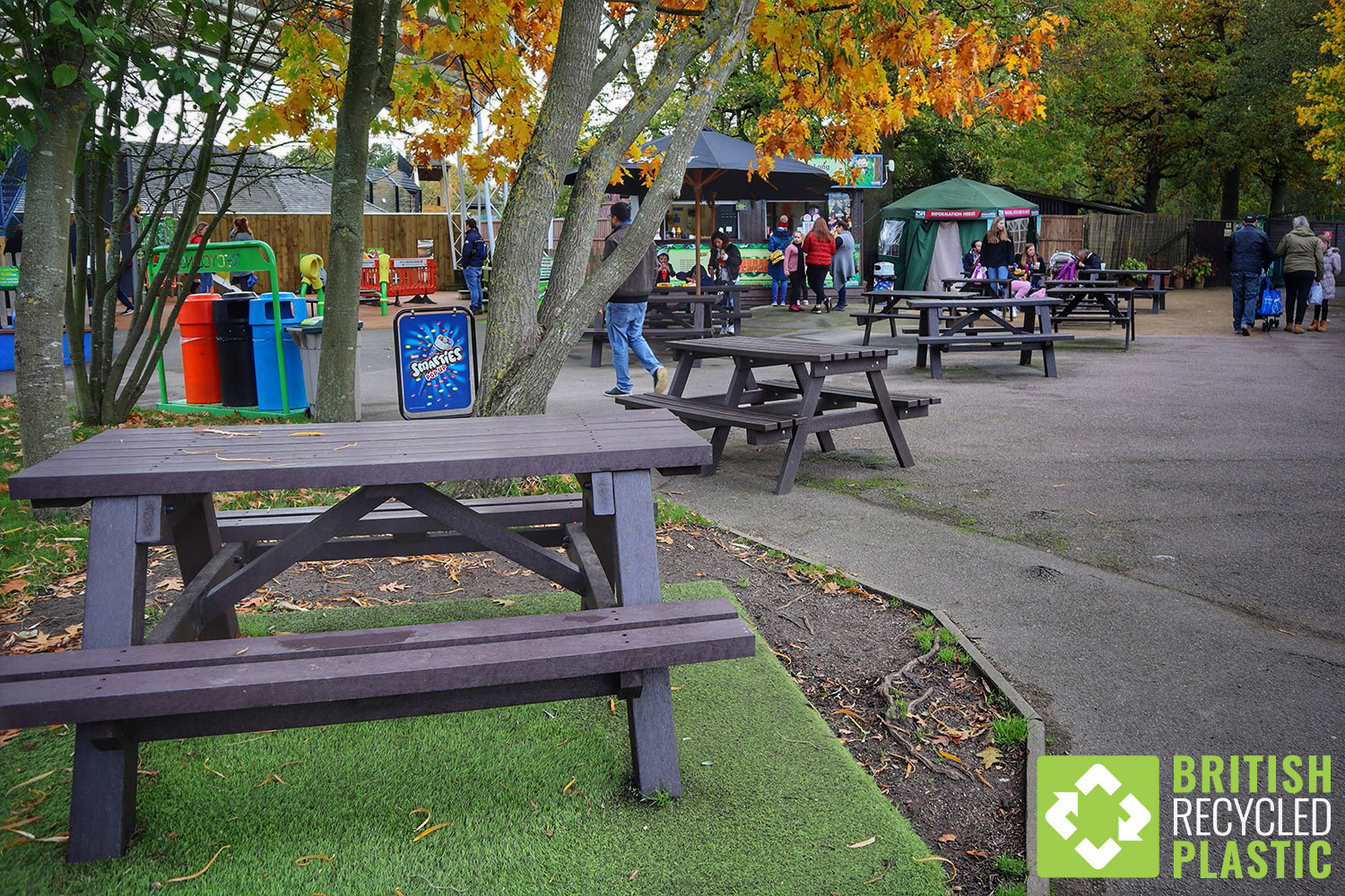Award-winning Paradise Wildlife Park loves their recycled plastic picnic tables