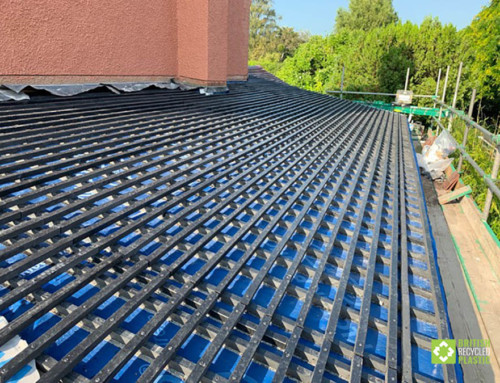 Recycled plastic lumber in roofing innovation