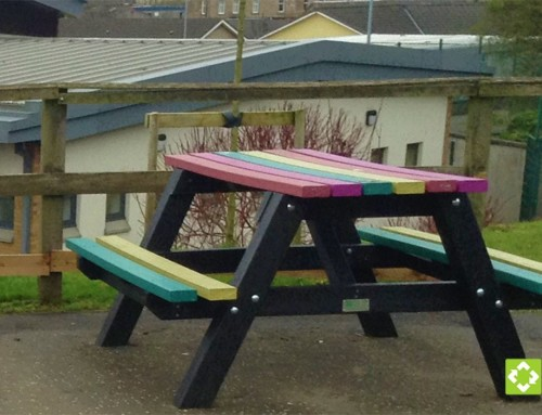 Rainbow benches for Chapelhall Primary School