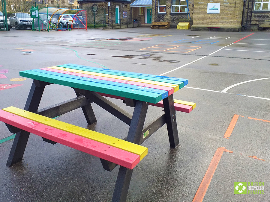 The [playground at Riverside School, Hebden Bridge