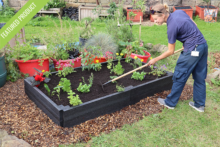 Recycled Plastic Raised Beds with 25 year guarantee