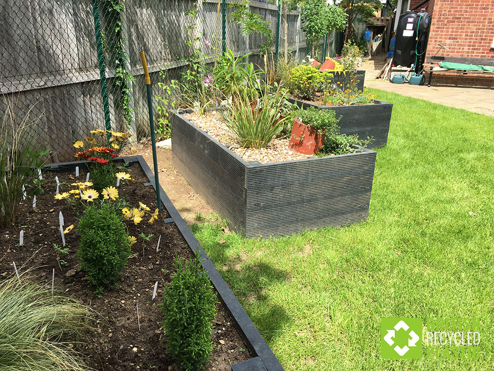 Chris Rushen's maintenance-free recycled plastic raised beds are 600mm high