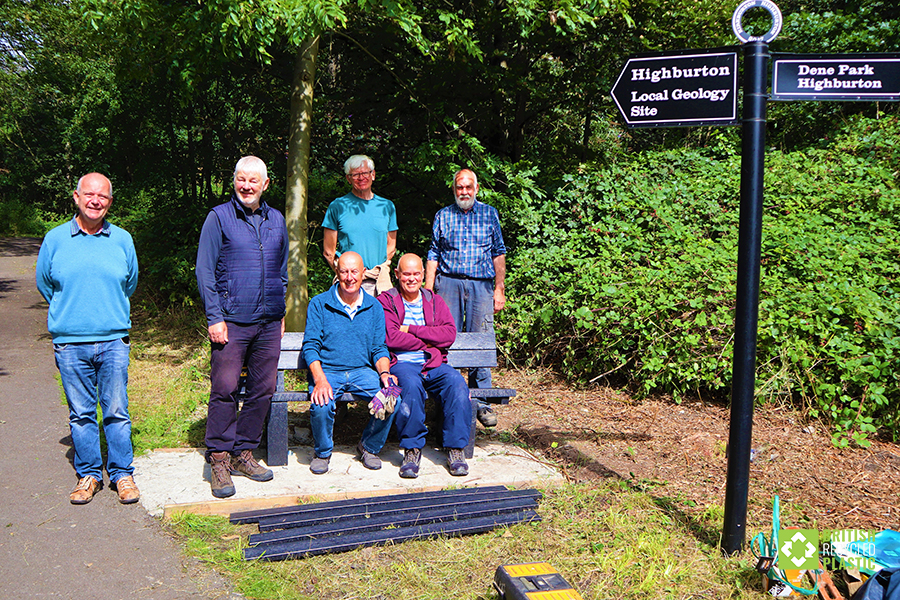 Kirkburton Friends with their new bench