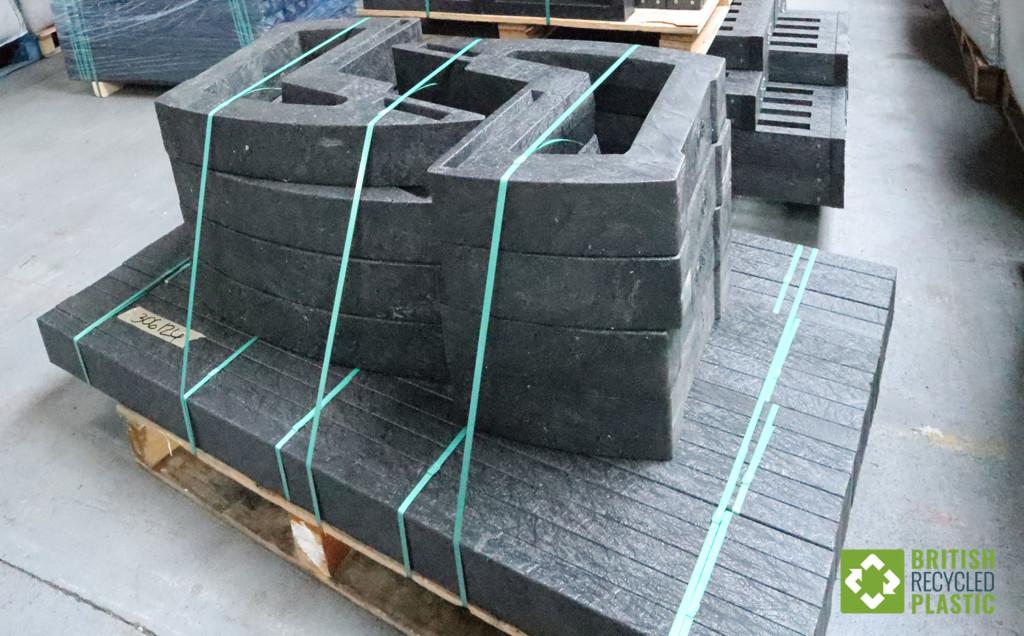 British recycled plastic furniture stock awaiting dispatch