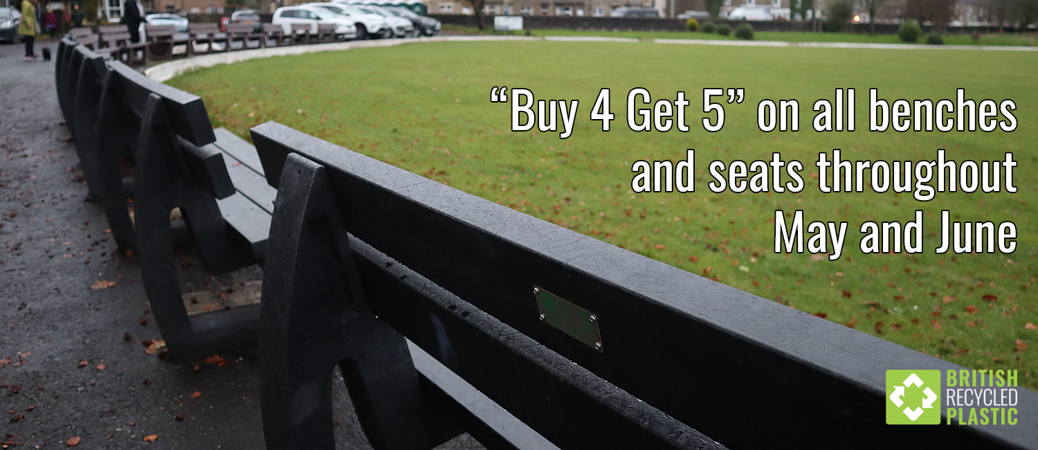 Our recycled plastic benches come with a 25 year guarantee