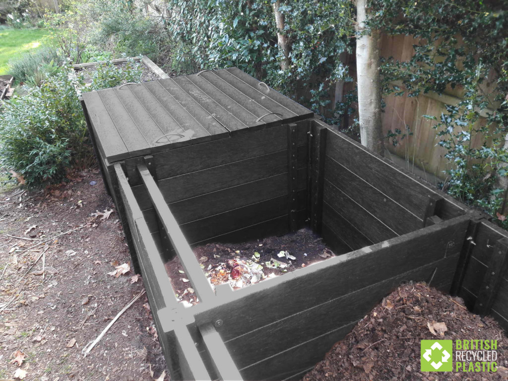 Callis heavy duty triple composter made from recycled plastic