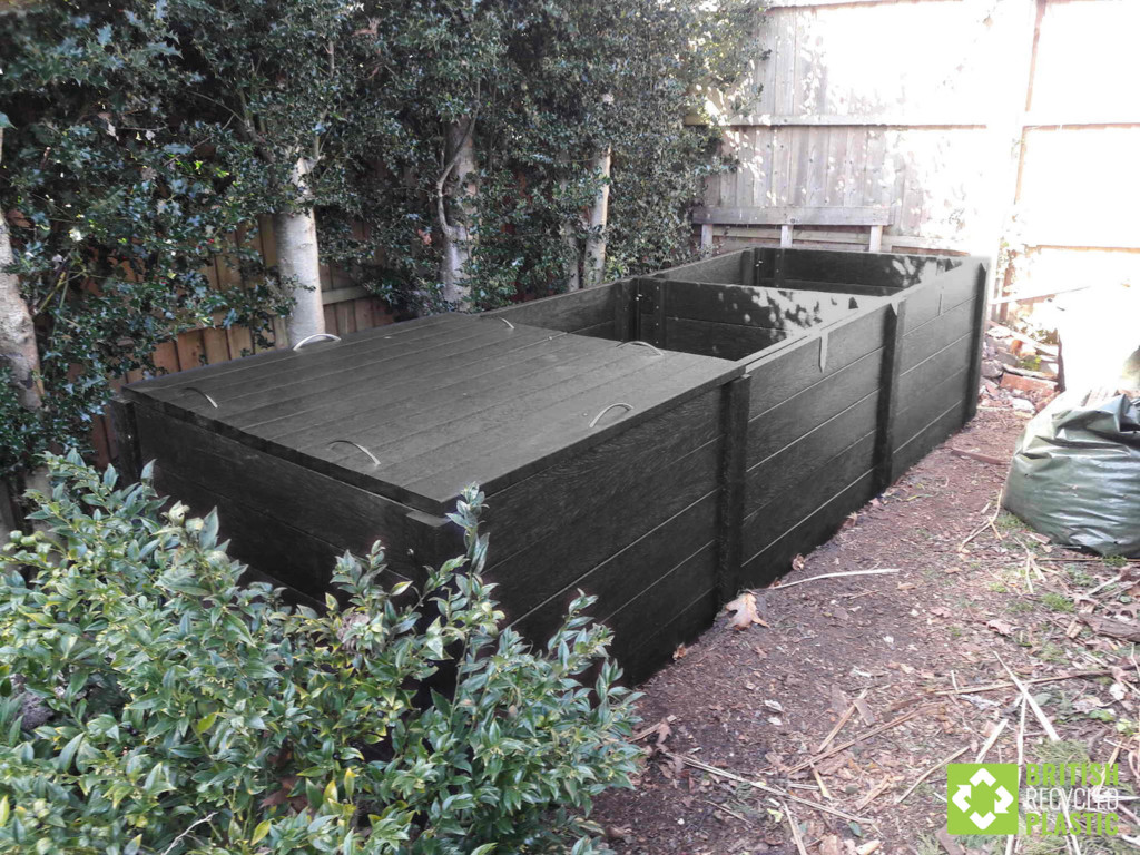 Callis heavy duty recycled plastic triple compost bin