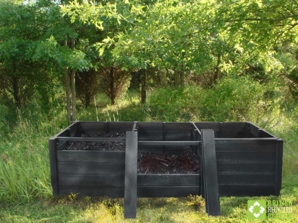 The Callis recycled plastic heavy duty triple composter