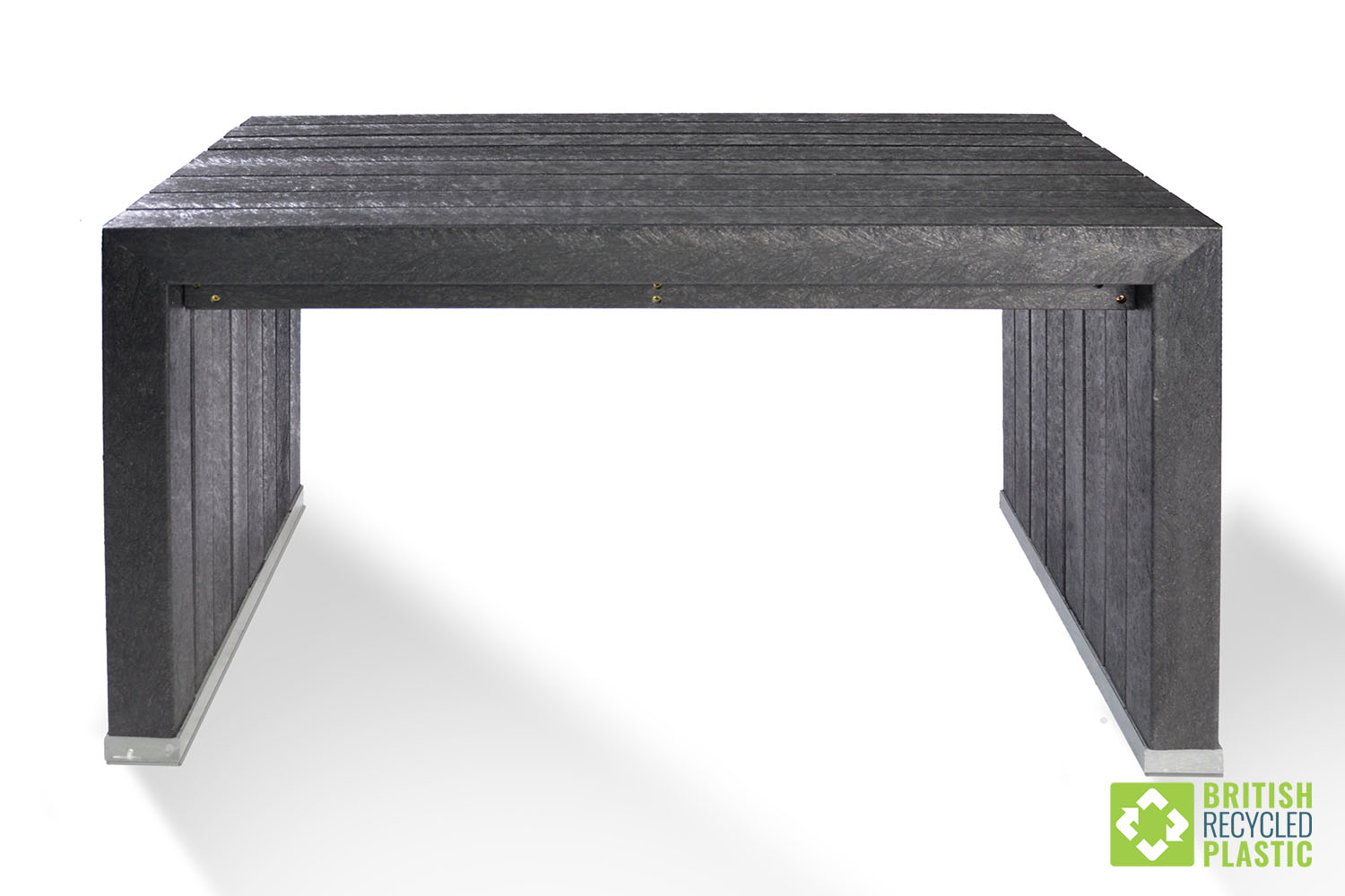 The robust Harrogate garden furniture set is made from British Recycled Plastic and comes with a 25 year guarantee