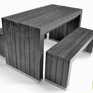 The Harrogate table and bench set from British Recycled Plastic