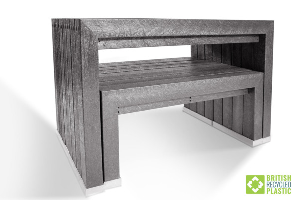 The space saving properties of the Harrogate garden furniture set make it incredibly practical.