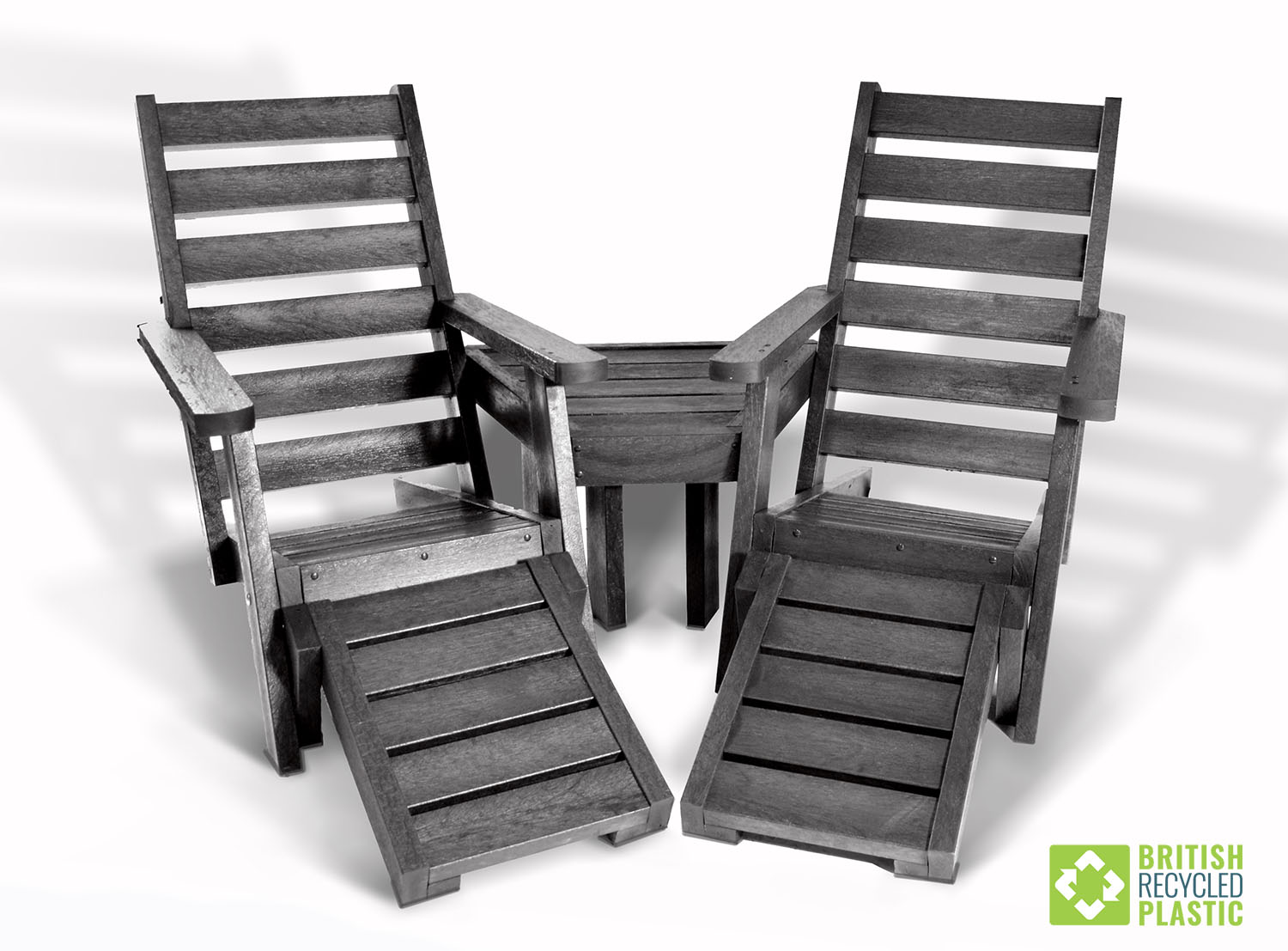 The Rosedale Lounger Set, made from British Recycled Plastic with a 25 year guarantee