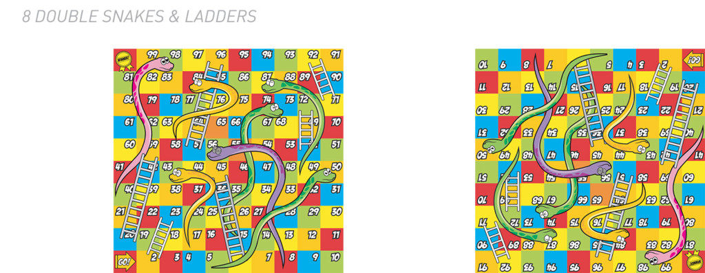Double snakes and ladders table top
