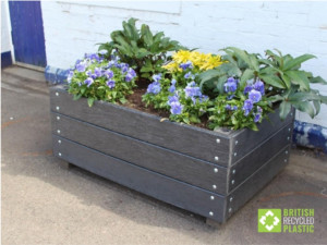 Dunblane In Bloom's new planters, built by them from our recycled plastic planks image