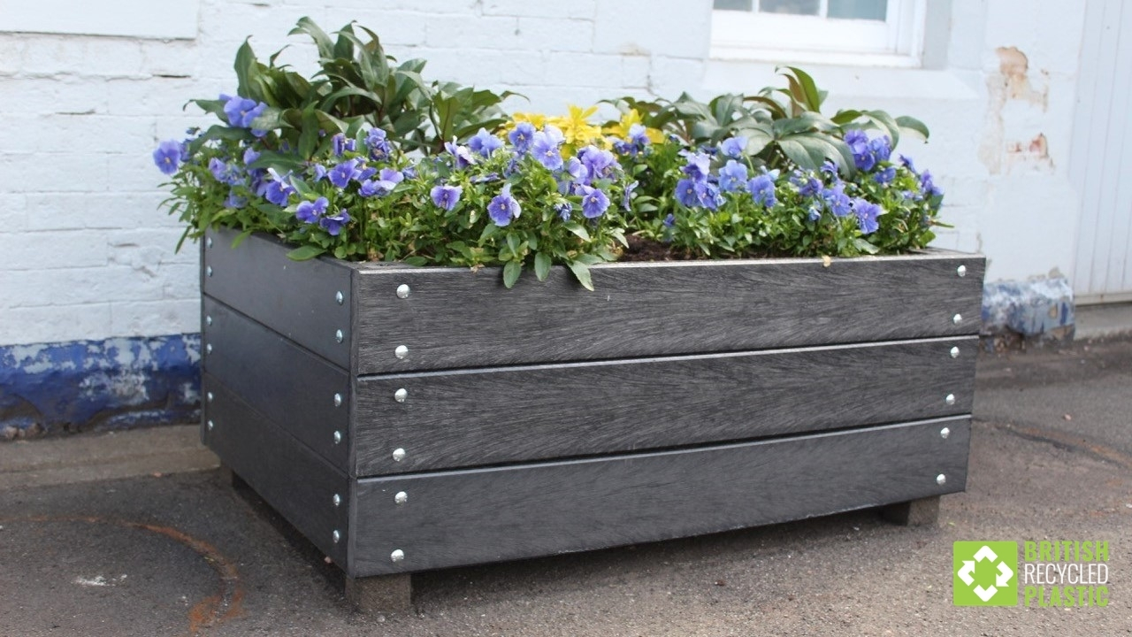Dunblane In Bloom's new planters, built by them from our recycled plastic planks