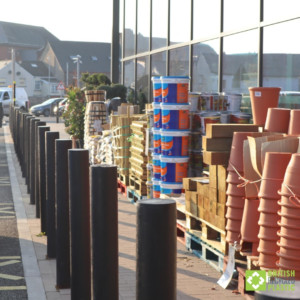 Halifax Flat recycled plastic bollards at Morrisons Abergavenny