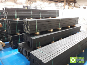 Lumber planks in warehouse awaiting dispatch