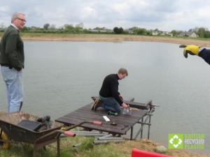 Southport fly fishers building a new fishing platform from our recycled plastic lumber
